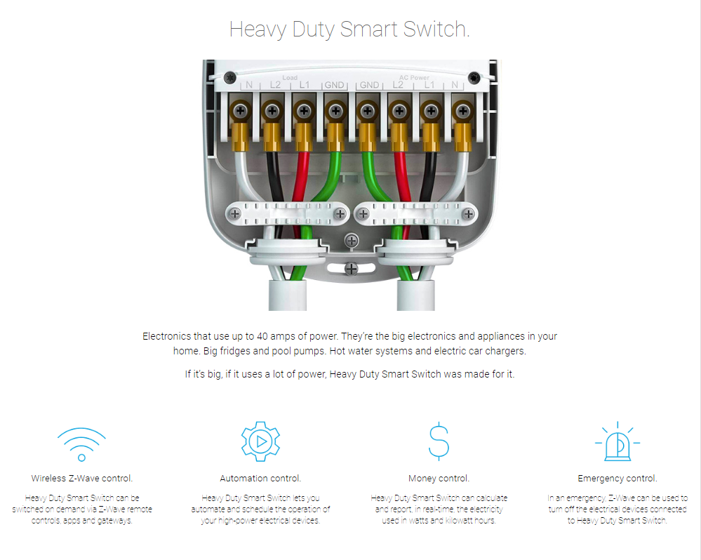 Aeotec Z Wave Heavy Duty Smart Switch